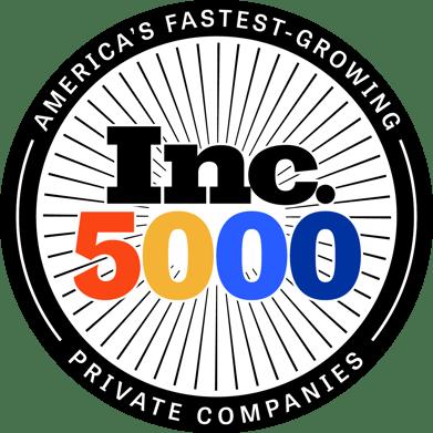Inc. 5000 Color Medallion Logo