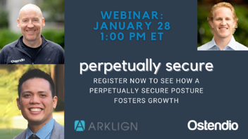 Webinar Perpetually Secure Jan 28 2021 featuring Arklign CTO Ray Alde