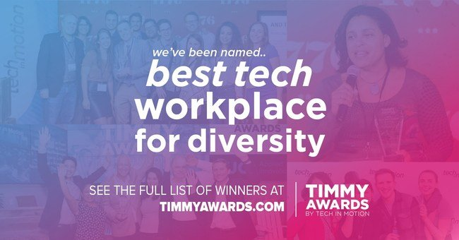 2018's Best Tech Workplace for Diversity winner.